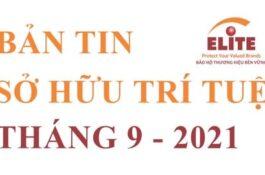 BẢN TIN SỞ HỮU TRÍ TUỆ THÁNG 9/2021